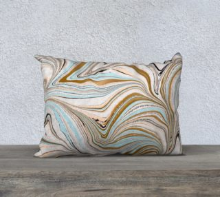 Baby Blue Agate Pillow preview