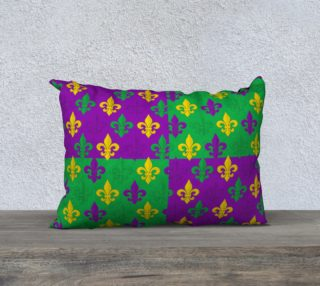 Mardi Gras Green Gold Purple Fleur-de-Lis Pattern preview