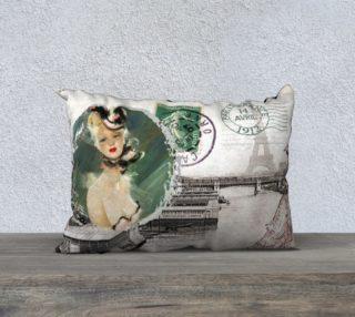 """Vintage Paris 20"""" x 14"""" Pillow Case preview"""