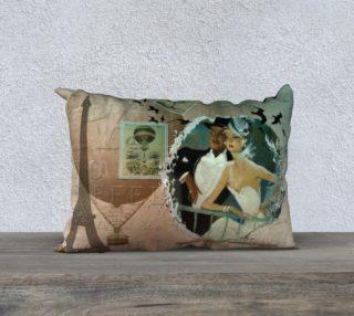 """Vintage Paris2  20"""" x 14"""" Pillow Case aperçu"""