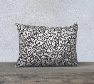 Black and white swirls doodles 20 x 14 Pillow Case aperçu