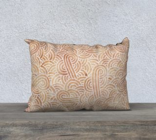 Iced coffee and white swirls doodles 20 x 14 Pillow Case aperçu