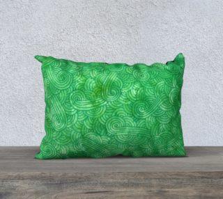 Green swirls doodles 20 x 14 Pillow Case aperçu