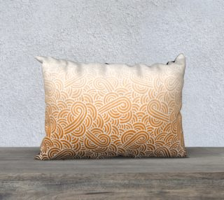 Ombre orange and white swirls doodles 20 x 14 Pillow Case preview