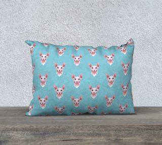 Sphynx cats pattern 20 x 14 Pillow Case aperçu