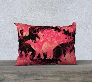 Aperçu de Jurassic Pillow - Pink & Black 20