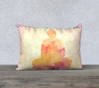 Orange Pink Buddha Painting Design preview