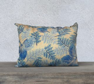 1950s Blue Ferns Fabric Replica 20x14 Pillow Case preview