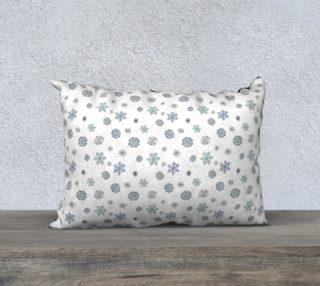 "Snowflakes Pillow Case - 20""x14"" preview"