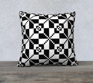Aperçu de Black And White Geometric Pattern