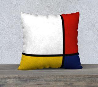 Aperçu de Mondrian Style Abstract Art Red Blue Yellow