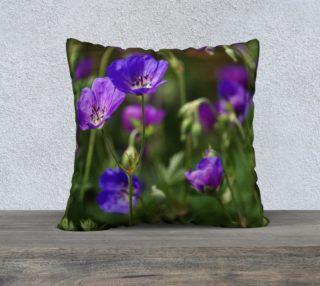 Purple Cranesbill 22x22 Pillow Case preview