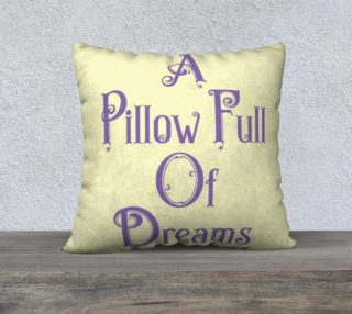 Pillow Full of Dreams Violet on Cream 22 preview