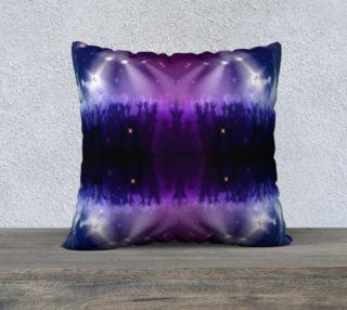 Purple and Blue Burst Pillow Case 22x22 preview