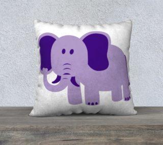 Purple Elephant Pillow Case 22x22 preview