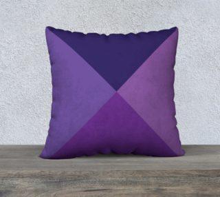 Violet-Mauve-Purple Geometric Pillow preview