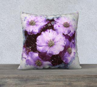 Six Purple Flowers 22 x 22 Pillow Case preview