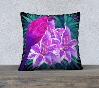 Tropical Parrot 22 x22 Pillow case preview