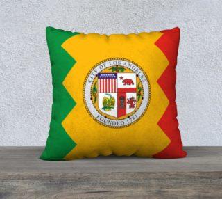 LA Flag Pillow 22 x 22 preview