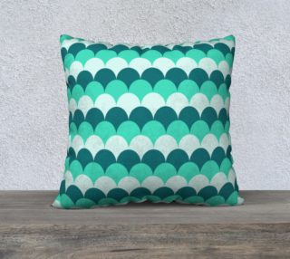 """Mermaid Scales Pillow Case - 22""""x22"""" preview"""