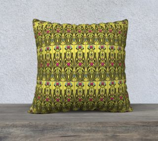 Yellow Nouveau 22 x 22 Pillow Case preview