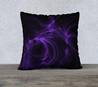 Purple Fractal on Black Pillow Case 22 x 22 preview