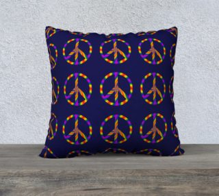 Rainbow Peace Sign 22x22 Pillow Case preview
