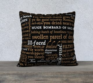 Shakespeare Insults Collection Pillow (22x22) preview