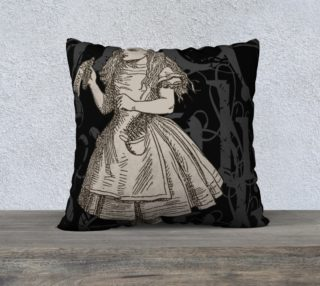 Alice In Wonderland Grunge Alice Pillow (22x22) preview