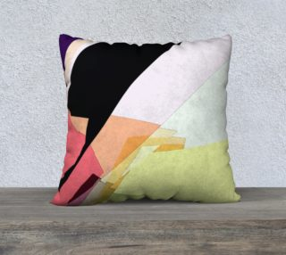 Blush & Yellow Pastel Pillow by HOLLIDAY preview