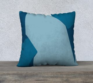 Blue Abstract pillow by HOLLIDAY preview