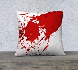 Blood Splatter First Cosplay Halloween  Pillow Case 22 x 22 preview
