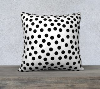 Black Polka Dot Large Cushion preview