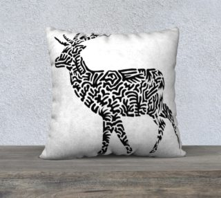 Rudolf Pillow - Black (big) preview