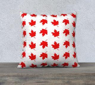 Aperçu de Red Maple Leaf Large Cushion