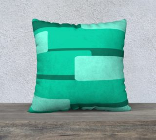 Teal Ocean Square Pillow Case preview