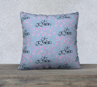 Floral/Petroglyph Pillow preview