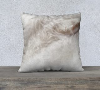 White feather and stone 22 x 22 pillow preview