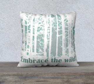 Embrace the Wild Night Forest Wilderness Quote. preview