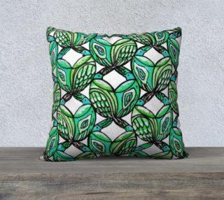 Aqua Birds Pillow preview