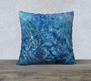 Aperçu de Gathering Blue Pillow Case 22sq
