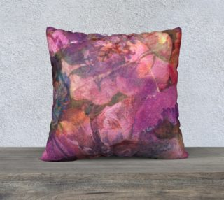 Unfolding Flowers Pillow Case 22sq preview