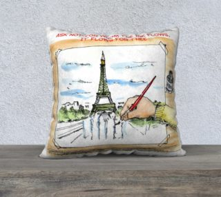 Aperçu de Je Suis Charlie Hebdo The Ink Flows For You Throw Pillow by Rick London