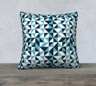 Blue Triangles 22x22 Pillow Case preview