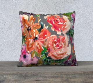 Aperçu de Coral Bouquet on Gray