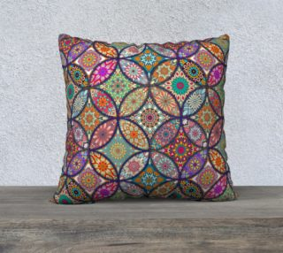 "Vibrant Mandalas 22"" x 22"" Decorative Pillow Case preview"