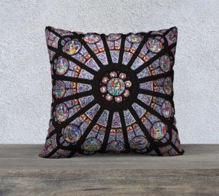 """Rose South Window, Notre Dame Paris 22"""" x 22"""" Decorative Pillow Case preview"""