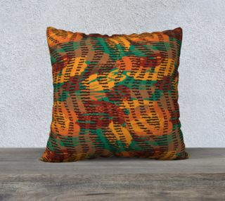 "Abstract Animal Stripes 22"" x 22"" Decorative Pillow Case preview"