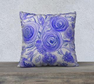 Coussin 22´ fleurs bleues preview