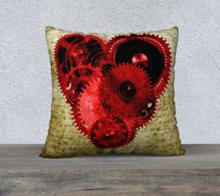 "Vintage Steampunk Heart 22"" Pillow preview"